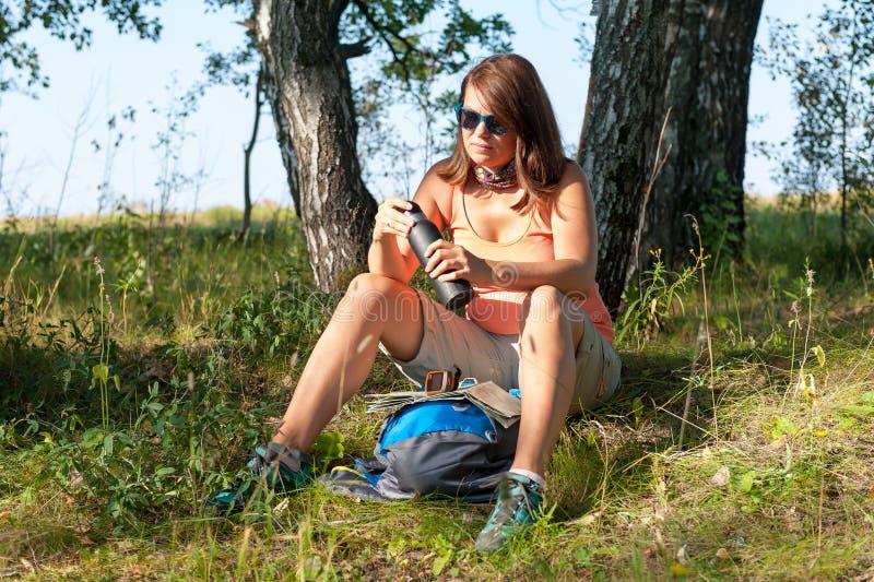 Młoda Kobieta podróżnik zdjęcia royalty free