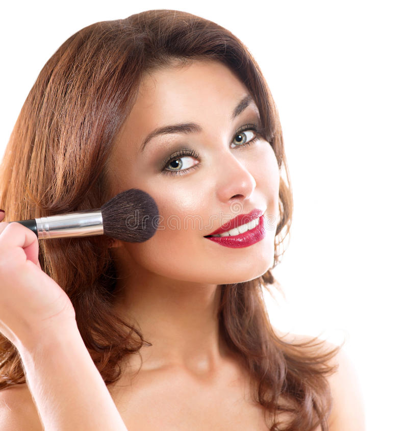 Młoda Kobieta Stosuje Makeup zdjęcie stock