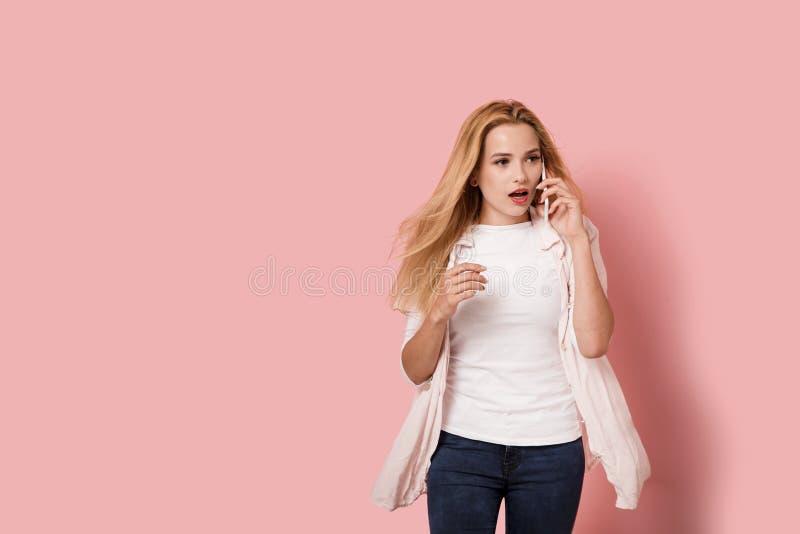 Młoda kobieta szokuje obrazy stock