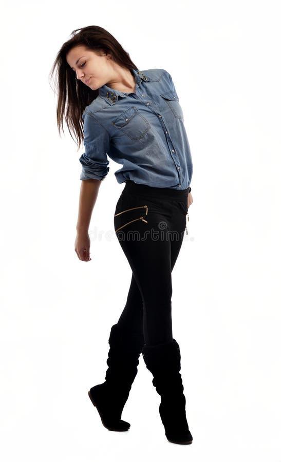 Młoda kobieta taniec zdjęcie stock