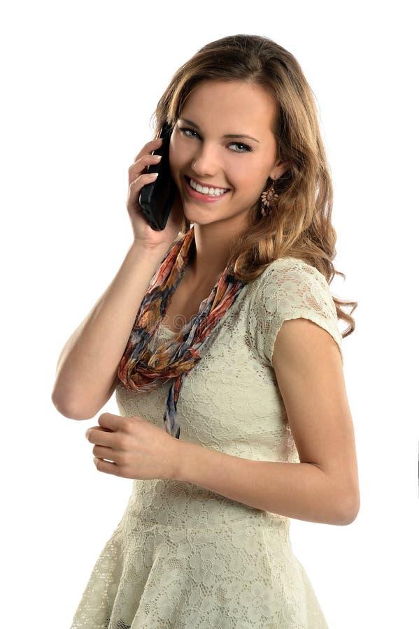 Młoda Kobieta Używa telefon komórkowego obraz stock