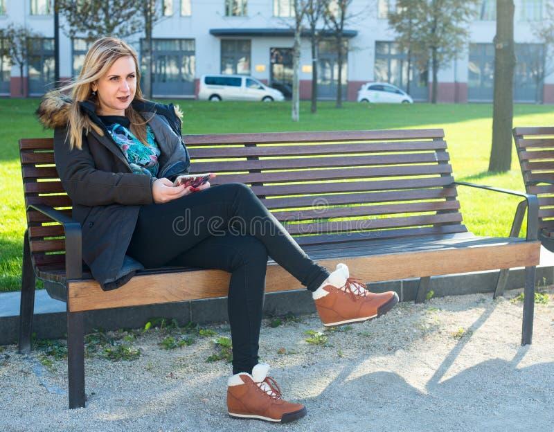 Młoda kobieta w Budapest fotografia royalty free