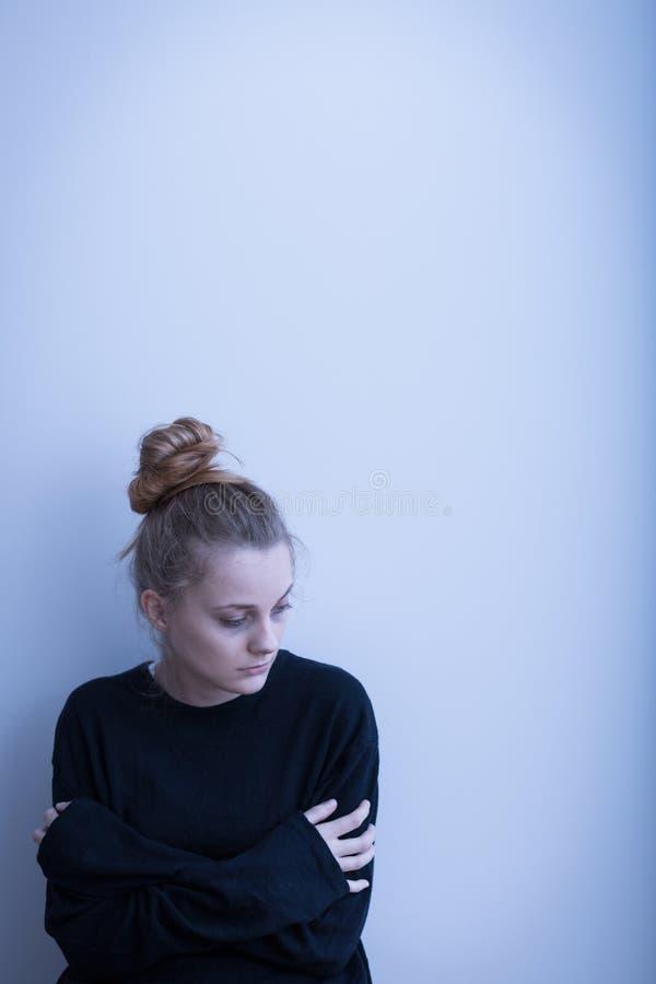 Młoda kobieta z depresją obrazy royalty free