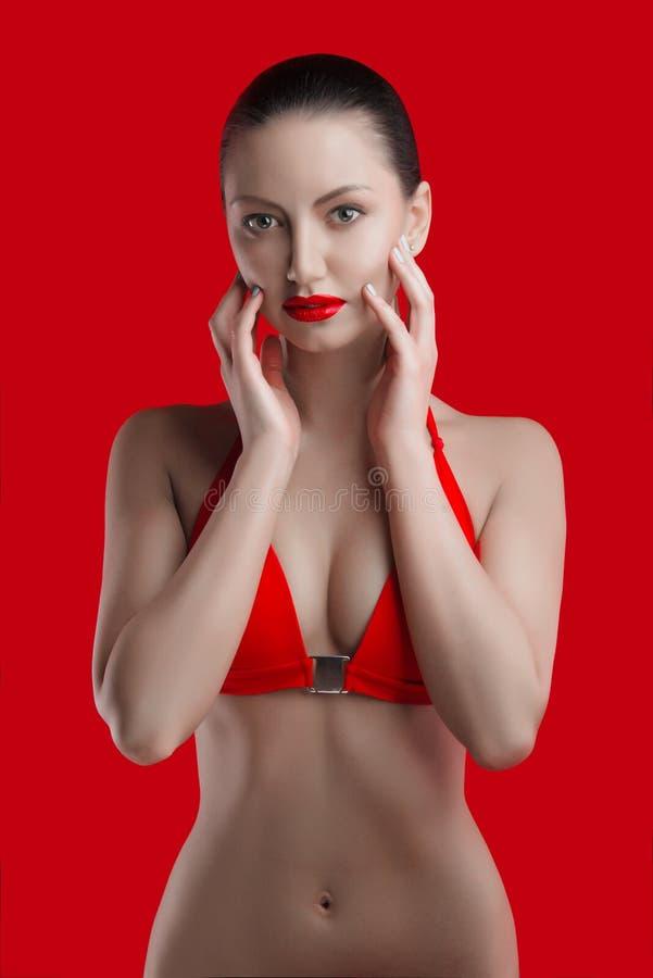 Młoda kobieta z perfect ciałem fotografia stock