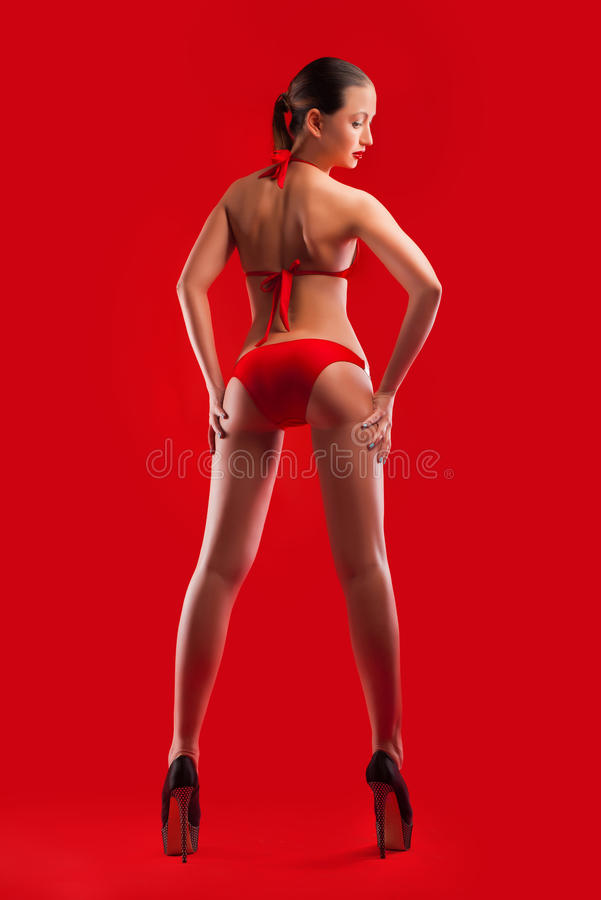 Młoda kobieta z perfect ciałem obraz stock