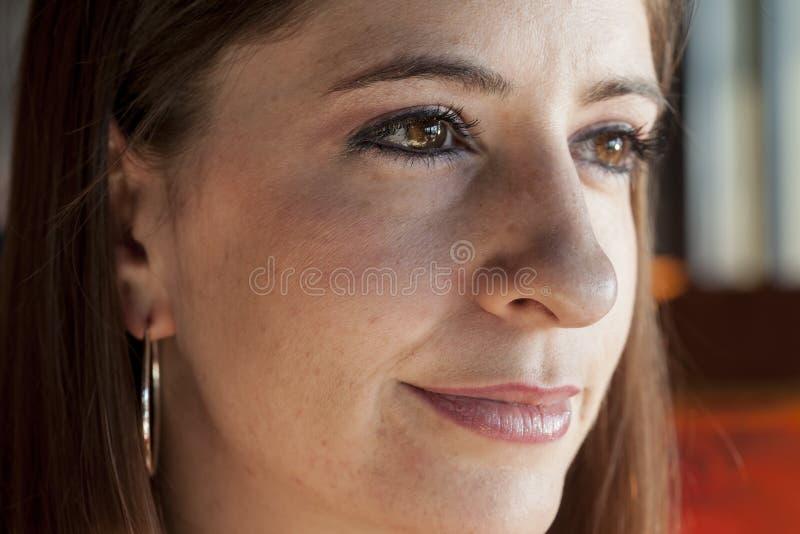 Młoda Kobieta z Pięknymi Brown oczami fotografia stock
