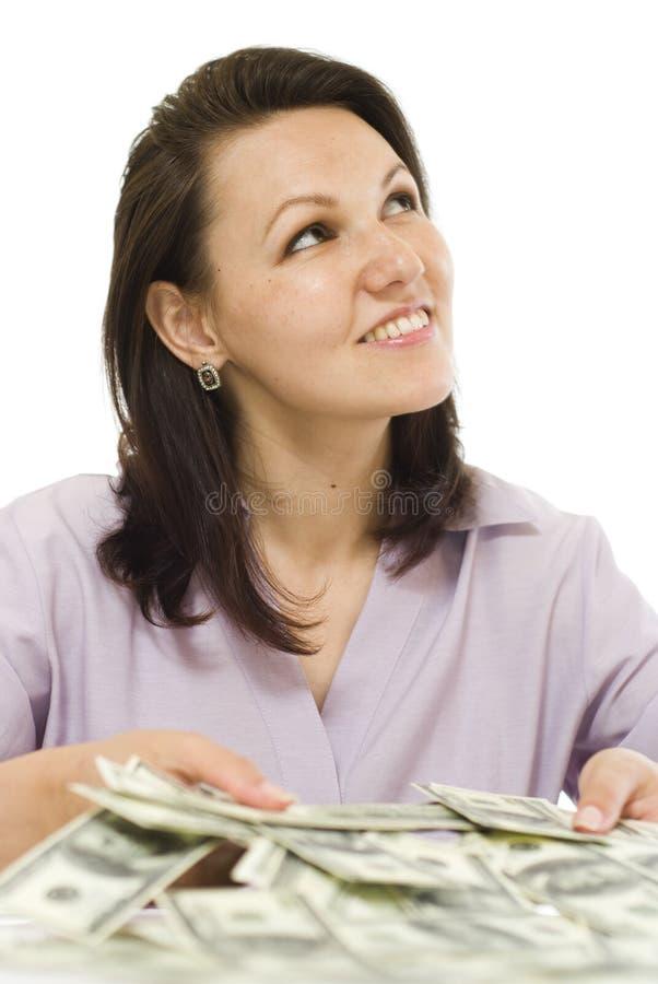 Młoda kobieta z pieniądze fotografia royalty free