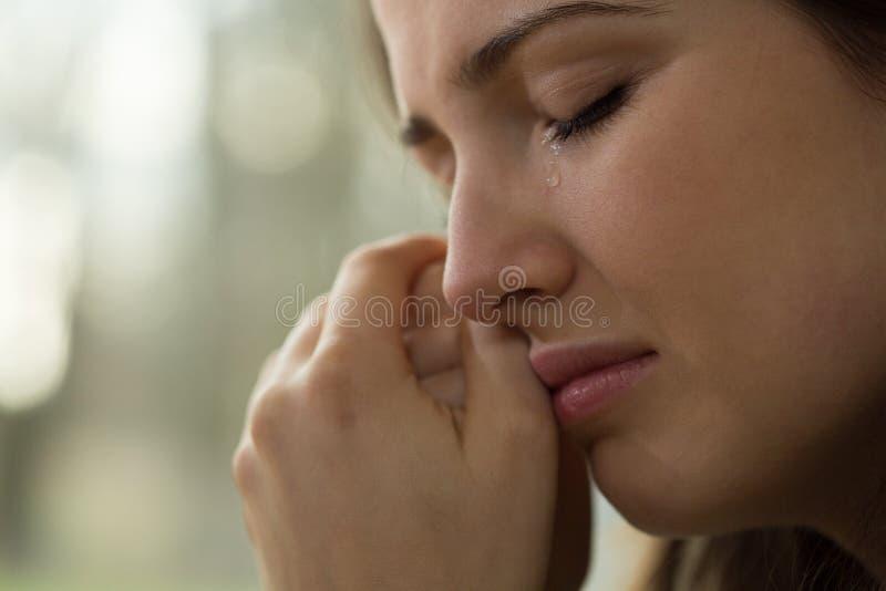 Młoda kobieta z problemami zdjęcia stock
