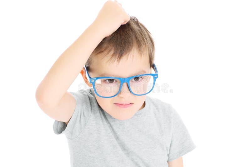 Młoda mądrze chłopiec obraz stock