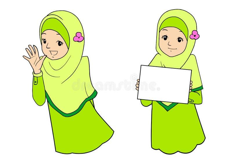 Młoda muzułmańska kobieta z wyrazami twarzy zdjęcie stock