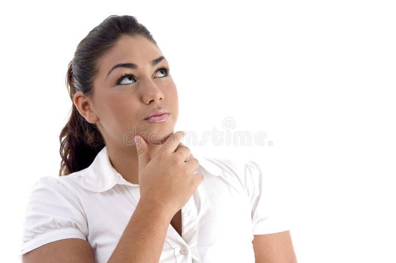 młoda myśląca kobieta zdjęcie royalty free