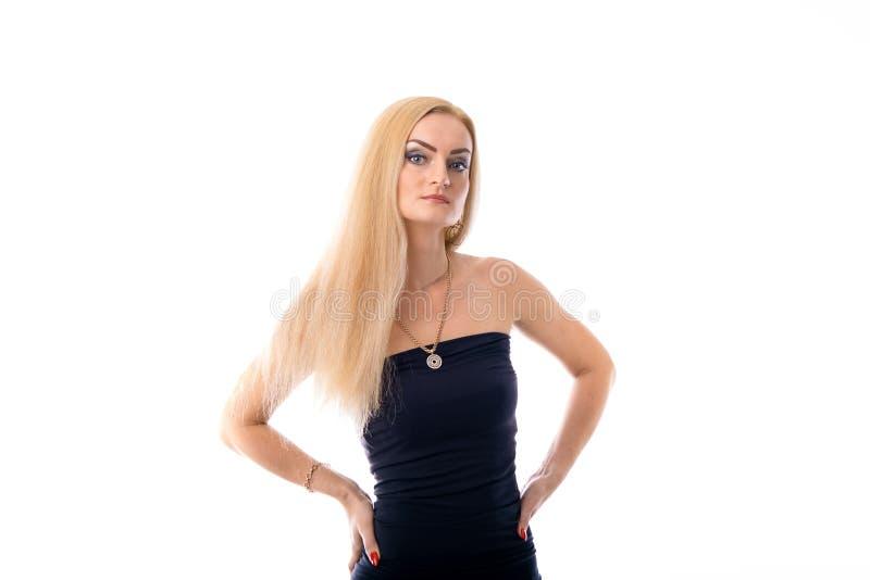 Młoda piękna Kaukaska dziewczyna odizolowywająca zdjęcia stock