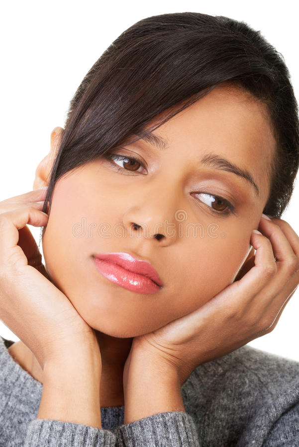 Młoda piękna kobieta w depresji. zdjęcie royalty free