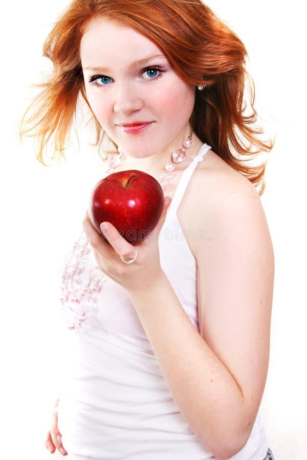 Młoda piękna seksowna czerwona kobieta zdjęcia royalty free