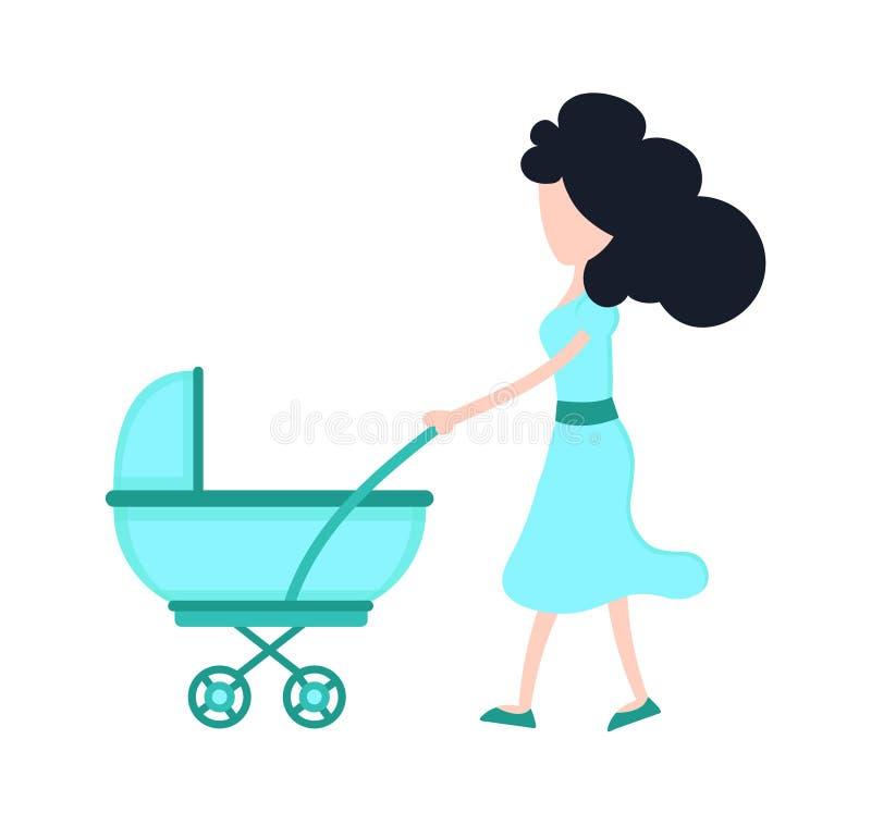 Młoda piękno matki mama z dzieckiem ilustracji