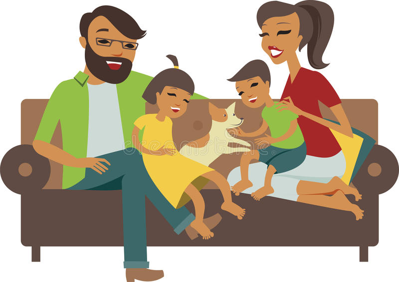 Młoda rodzina royalty ilustracja