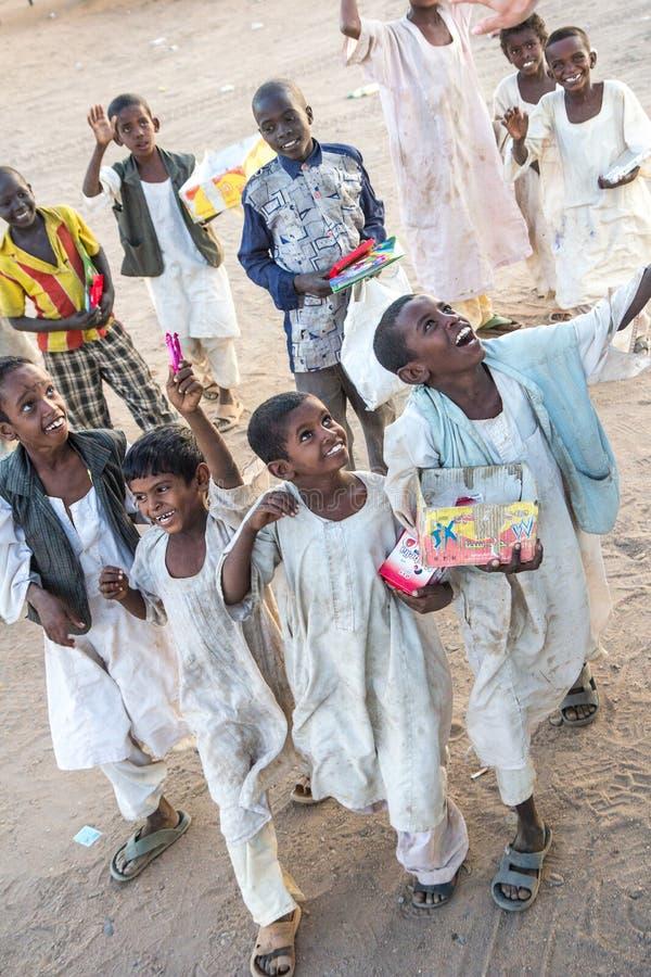 Młoda Sudańska chłopiec na rynku obraz royalty free