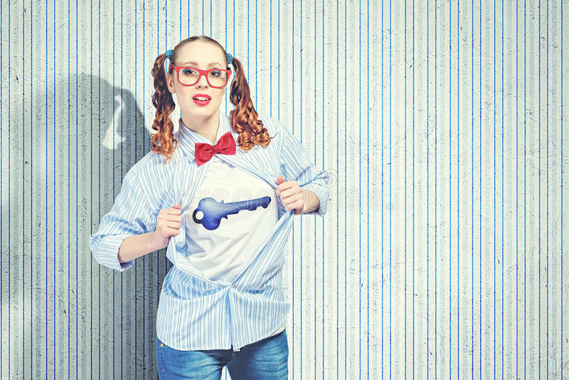 Młoda super bohatera kobieta fotografia stock
