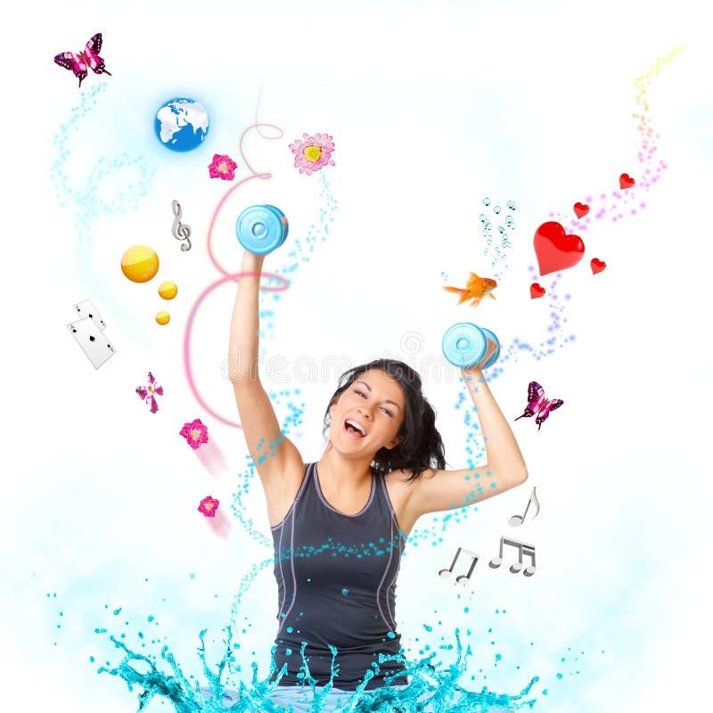 Młoda szczęśliwa kobieta zdjęcie stock