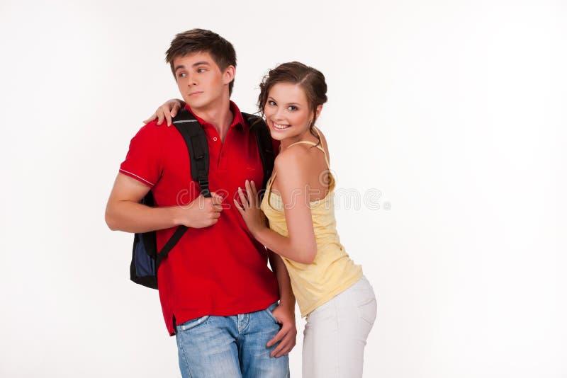 Młoda Uśmiechnięta kobieta i mężczyzna zdjęcia stock