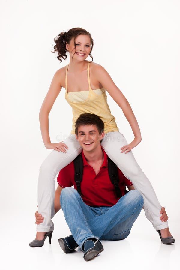 Młoda Uśmiechnięta kobieta i mężczyzna fotografia royalty free