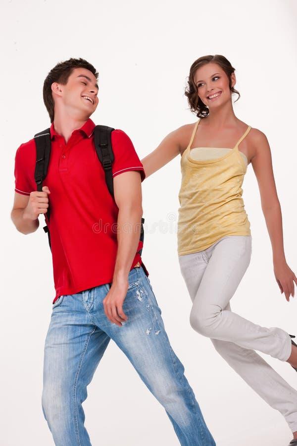 Młoda Uśmiechnięta kobieta i mężczyzna obraz stock