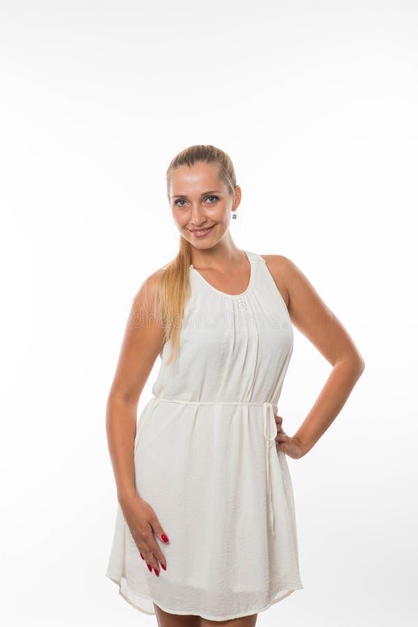 Młoda uradowana kobieta zdjęcia stock