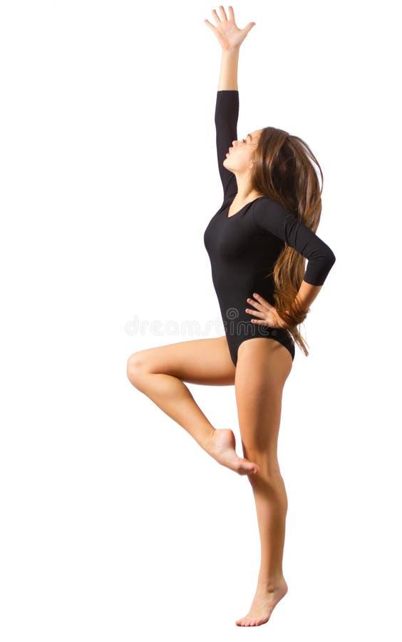 Młode dziewczyny angażować sztuki gimnastyczne zdjęcie stock