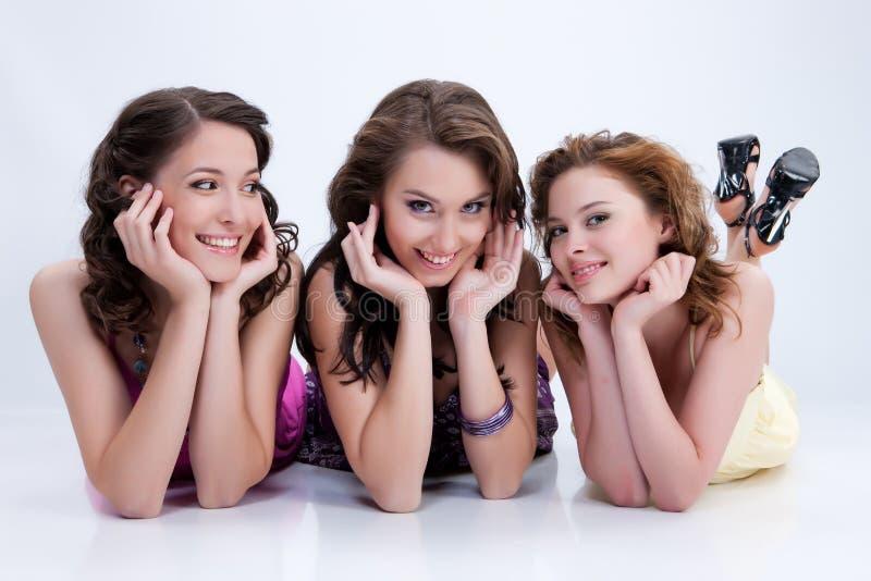 młode emocjonalne kobiety zdjęcie stock