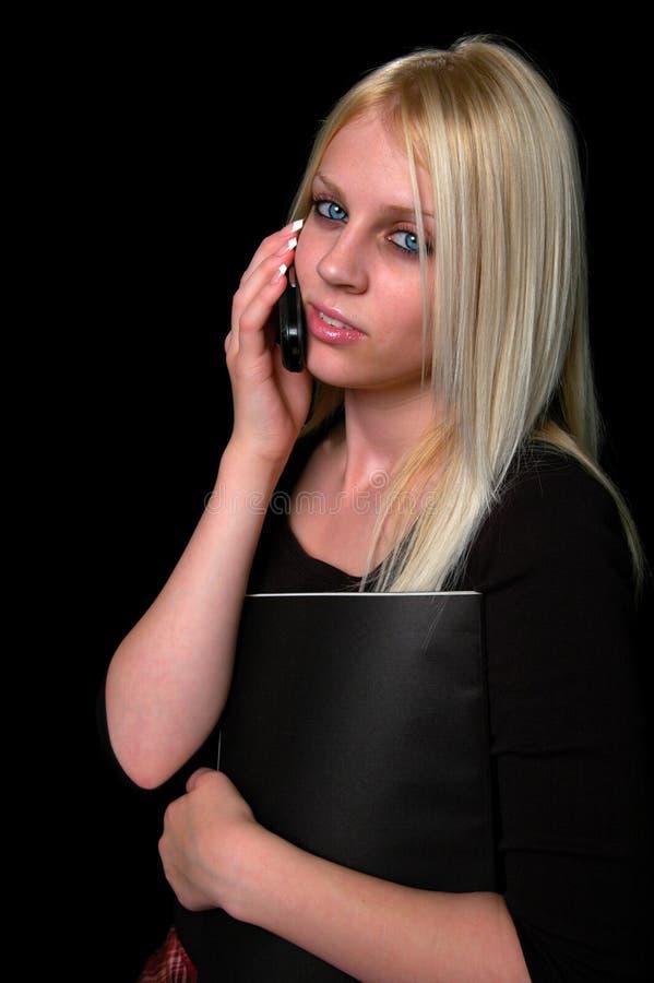 młode kobiety komórkę obraz stock