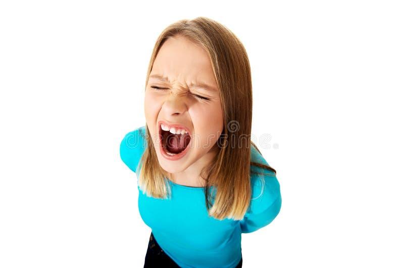 młode kobiety krzyczą zdjęcia royalty free