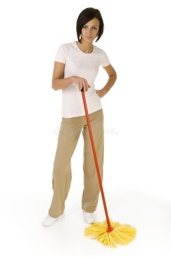 młode kobiety mop zdjęcie royalty free
