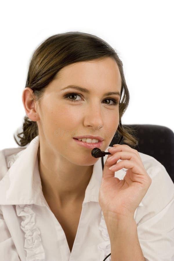 młode kobiety słuchawki fotografia stock