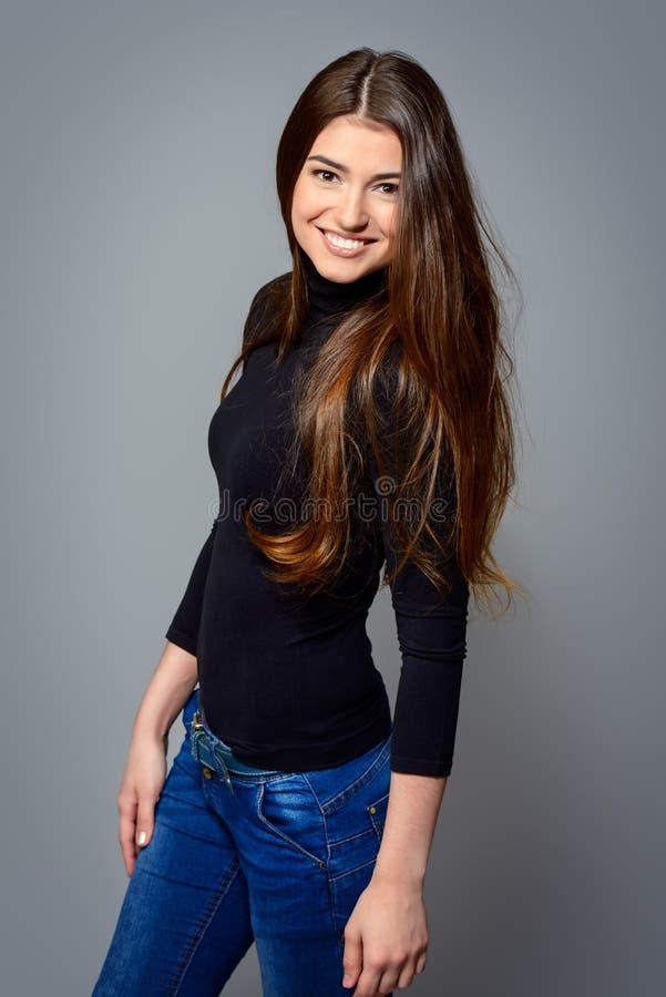 młode kobiety szczęśliwi obrazy stock