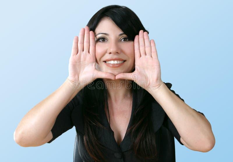 młode kobiety szczęśliwi zdjęcie stock