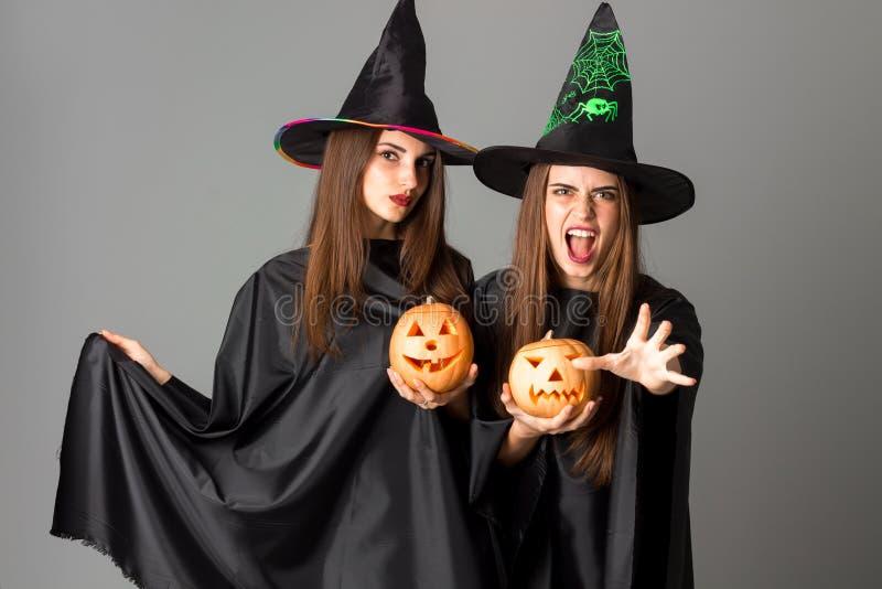 Młode piękne kobiety w Halloween stylu obraz royalty free