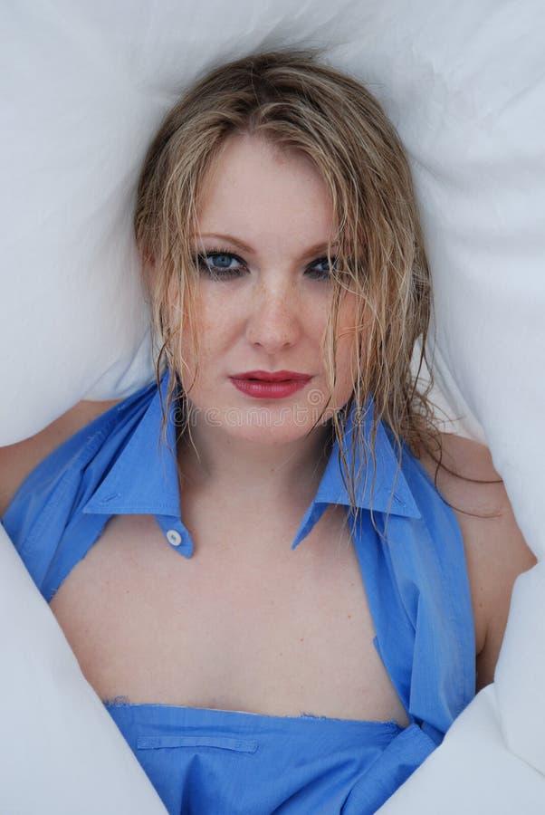 młode pieg blond kobiety zdjęcie stock