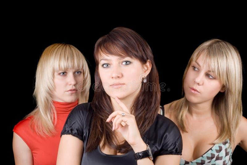 młode portret piękne kobiety trzy obraz stock