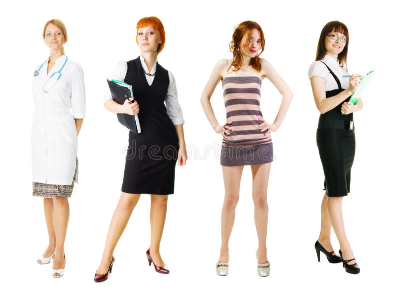 młode różnorodne grupowe kobiety fotografia stock