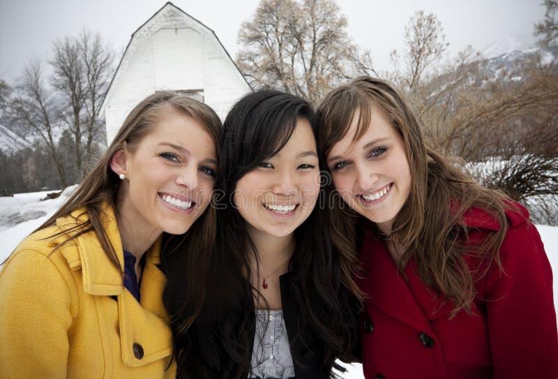 młode uśmiechnięte portret kobiety fotografia stock