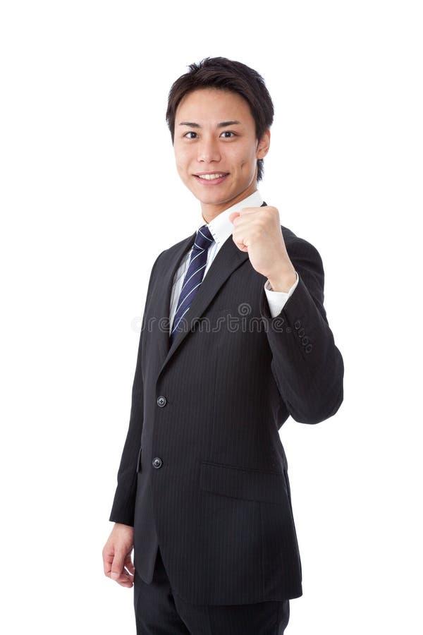 Młodego biznesmena target141_0_ żyłki obraz stock