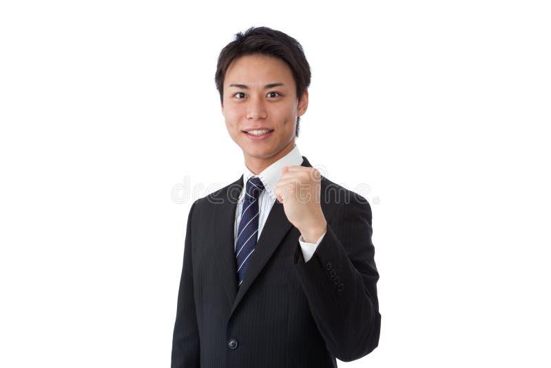 Młodego biznesmena target744_0_ żyłki zdjęcia royalty free