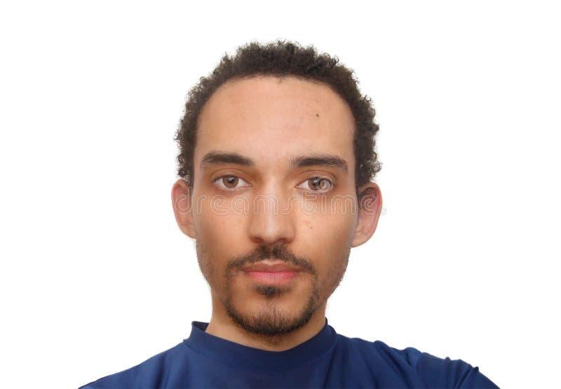 Młodego człowieka poważny portret obraz royalty free