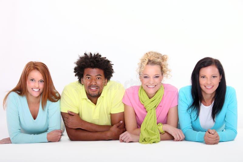 młodego cztery świeżego ludzie obraz royalty free