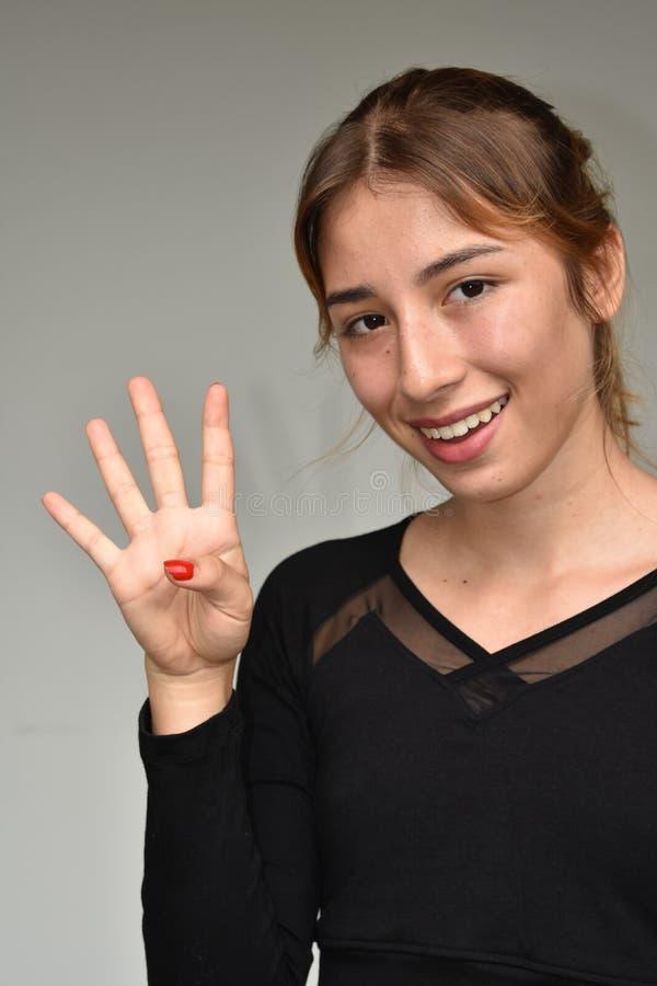 Młodej Dziewczyny liczenie obrazy stock