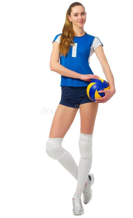 Młodej dziewczyny siatkówki gracz obrazy stock