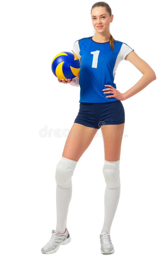 Młodej dziewczyny siatkówki gracz zdjęcia royalty free