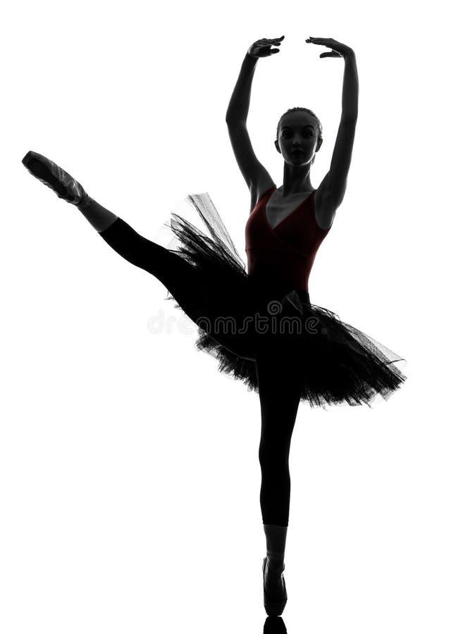 Młodej kobiety baleriny baletniczego tancerza taniec obraz stock