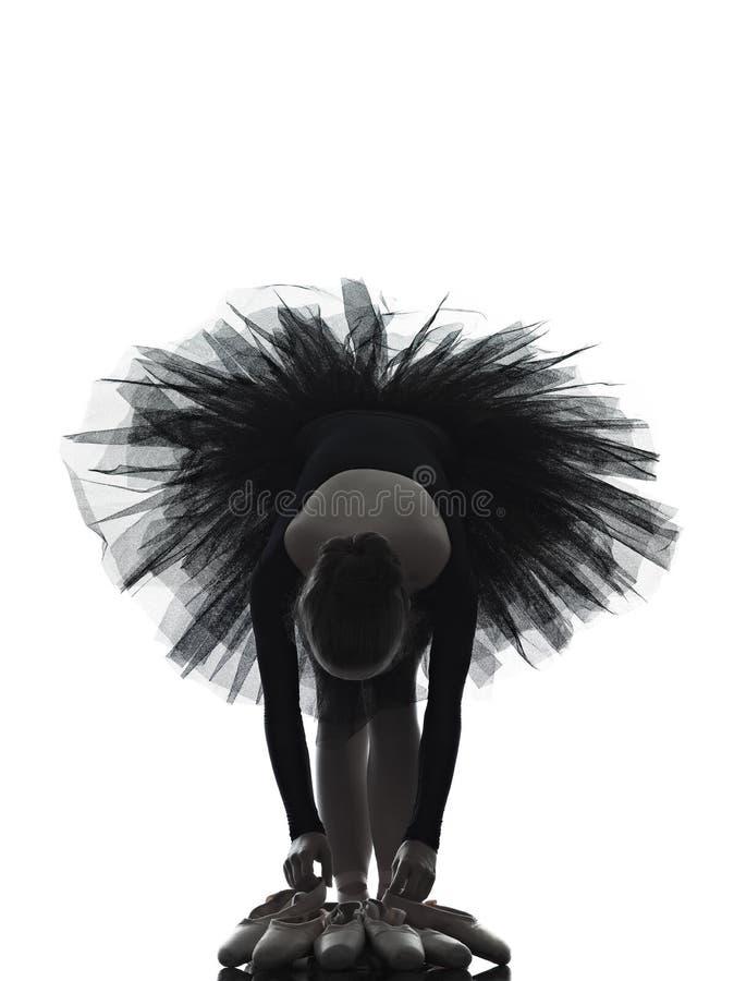 Młodej kobiety baleriny baletniczego tancerza taniec zdjęcia royalty free