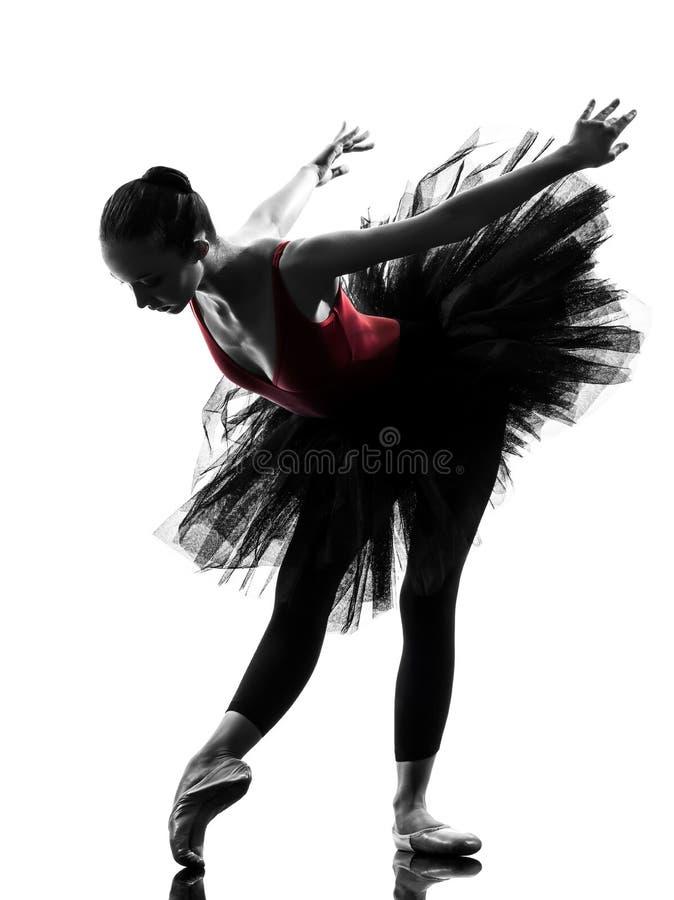 Młodej kobiety baleriny baletniczego tancerza taniec obraz royalty free